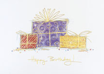 Trio of Gifts Birthday Greeting Card